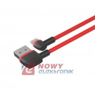 Kabel USB - Lightning kątowy UNITEK wtyk-wtyk C4047RD Iphone
