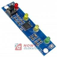 Wskaźnik LED naładowania 4xLED  litowych, kontrolka  akumulatora