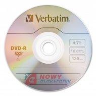 Płyta DVD-R Verbatim 4,7GB x16 k koperta