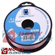 Przewód głośnik. 2x1,5 CCA 25m