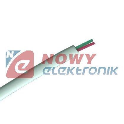 Przewód tel.2 3401-2C-100M/R. Biały