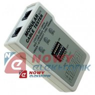 Tester kabli telefonicznych RJ11 przewodów z końcówkami lub bez