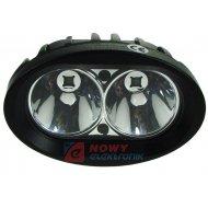 Lampa LED halogen Blue Spot 2x5W CREE IP68 12V/24V światło nieb.