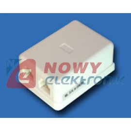 Puszka natynkowa PN6-4,TYP6,MIDI gniazdo telefoniczne