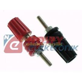 Zacisk labolatoryjny 15A 3mm ABS czarny czerwony