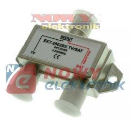 Spliter F*2 TV/SAT rozgałęźnik odpowiedni do UNICABLE Splitter