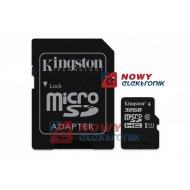 Karta pamięci micro SDHC 32GB K UHS-I 45MB/s G2 KINGSTON z adapt.