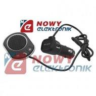 Zestaw głośnomówiący Bluetooth  4.0 + ładow.2,1A do samochodu