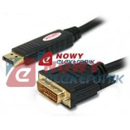 Kabel DisplayPort/wt. DVI 1.8m --88833 Adapter UNITEK Y-5118BA przejś