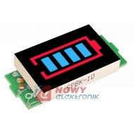 Miernik akumulatora 1S wskaźnik 3,3-4,2VDC H704 naładowania