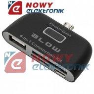 Czytnik kart pamięci do smartfon z syst. Android USB4W1 gn.USB