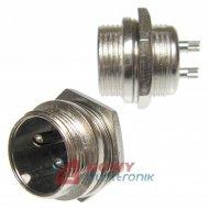 Gniazdo męskie NC812(2-M)  2-pin 6A 125V