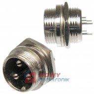 Gniazdo męskie NC813(3-M) 3-pin 6A 125