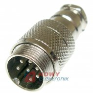 Gniazdo męskie NC521(7-M)na kab. 4A 125V mikrofonowe na kabel NC/CB 7pin
