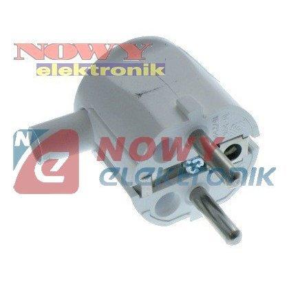 Wtyczka elektryczna W-50K 16A/250VAC kątowa z uziemieniem