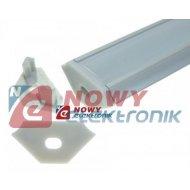 Profil LED - zaślepka C z otw. szara z otworem /do profilu C