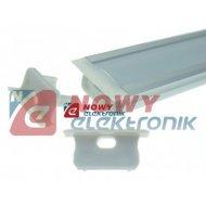 Profil LED - zaślepka B z otw. szara z otworem /do profilu B
