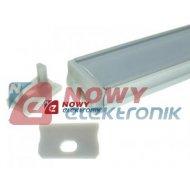 Profil LED - zaślepka A z otw. szara/do profilu A