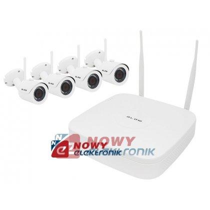 Zestaw monitoringu bezprzew NVR 4-kanał. WI-FI BL-KIT-NVR-04A BLOW kamer