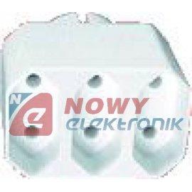 Rozgałęźnik elektryczny R-3PC 3-gn na płaską wtyczkę Elgotech