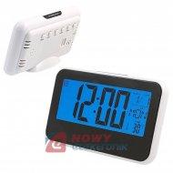Budzik Cyfrowy Biurkowy zegar,termometr,data,