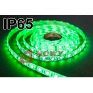 Taśma LED SMD5050 zielony IP(1m) IP65 (300LED/5m) w silikonie 12V