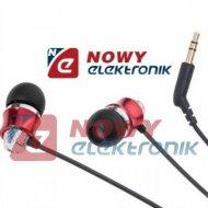 Słuchawki douszne K&M KMM01RD czerwone Kruger&Matz wtyk:3,5mm