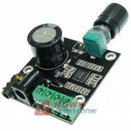 Wzmacniacz audio 15W+15W kl.D mocy PAM8610 4-8ohm 20Hz-50KHz 40x40x20