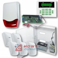 Zestaw alarmowy CA-10 +5 czujni + sygnalizator zew. + akum. 7Ah SATEL.