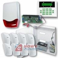 Zestaw alarmowy CA-10 +8 czujni + sygnalizator zew. + akum. 7Ah SATEL.