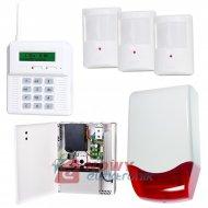 Zestaw alarmowy CB32GZ + 3 czuj + sygn. przewodowy + zas.bufor 7Ah.ELMES