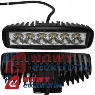 Lampa LED halogen 6x3W 9-60V IP68 reflektor led car listwa
