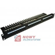 "Patch Panel 24-port UTP6  Rack  19"" 1U złącza krone   LSA"