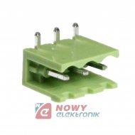 Wtyk HX250R-03 Zielony 3pin kąt tlph300r-03p