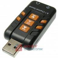 Karta dźwiękowa USB2.0 8.1 kanał adapter (WIN XP,VISTA,7,8,10) NEPOWER
