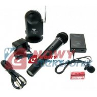 Mikrofon bezprzew.LS-101HT+LS101 LT  do ręki + na klip