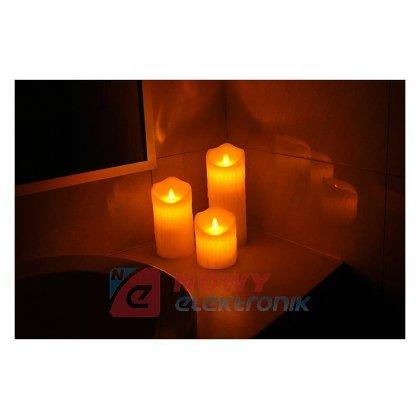 Świeca woskowa LED LTC 7.5x10cm biała świeczka