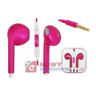 Słuchawki LTC205 douszne Różowe jack 3,5mm