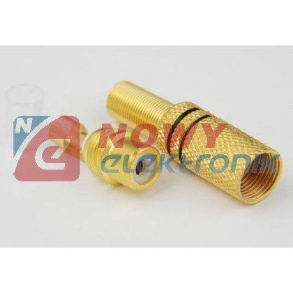 Gniazdo RCA na kabel GOLD na kabel 5,6mm