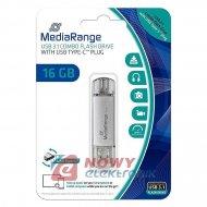 Pamięć PENDRIVE 16GB MEDIARANGE DUAL USB3.1/USB-C