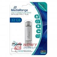 Pamięć PENDRIVE 32GB MEDIARANGE DUAL USB3.1/USB-C