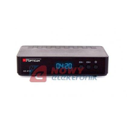 Tuner sat. OPTICUM AX 410 HD PVR DVB-S DVB-S2 HDTV dekoder SAT