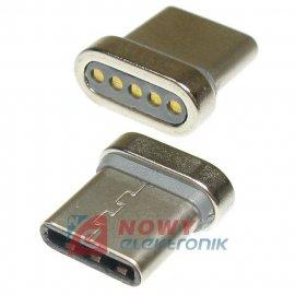 Wtyk USB-C do kabla magnetyczn. k.40607 TYP-C końcówka