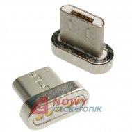 Wtyk micro USB do kabla magnety. k.40606 końcówka  mikro
