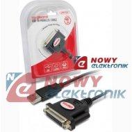Przejściówka z USB na LPT Y-121 UNITEK DB25 adapter Parallel drukarki