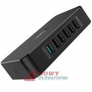Ładowarka USB siec. 6xUSB 6x2,4A 14,4A UNITEK QC2.0 S.E. Y-P535 stacja