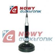 CB antena samoch.SILVER-90SIRIO kpl. z podstawą magnet. 90mm