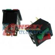 Przełącznik podśw.podwój.230V AC czerwony+zielony T120