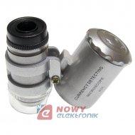 Mikroskop kieszonkowy LUPA+ETUI podśw.LED + UV