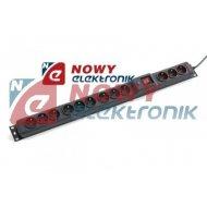 Filtr komp Multi M9+3 2,5m ARMAC 16A czarna Listwa przepięć z wyłącznik.